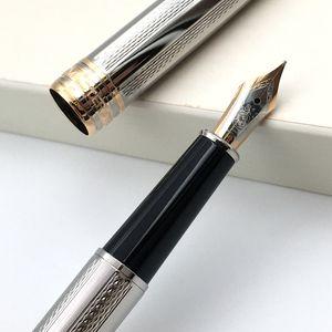 Pluma de lujo 163 mtblc plata carcasa de metal y la textura de oro hermoso patrón de tamaño medio de tinta punta de la pluma 4810