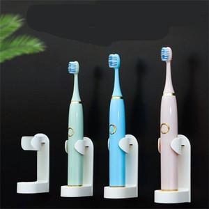 Os titulares escova de dentes fixo Armazenamento prateleira do banheiro Lacaios Bracket Racks Suspensórios Wall Mounted Cozinha Organizador Hot Venda 1 6-il C2