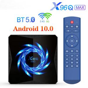 X96Q MAX TV صندوق الروبوت 10.0 4GB 64GB 4K 60FPS 2.4G / 5G واي فاي ميديا بلاير بلوتوث 5.0 تعيين كبار مربع