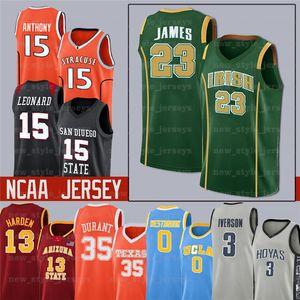 NCAA 103 NCCA Jersey Ja Men Lebron Moran Durant Harden Curry Stephen College Basket Maglie Russell Westbrook Zion Iverson Williamson