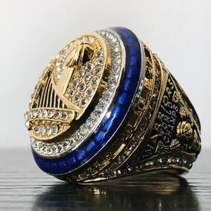 Campeonato de Basquetebol anéis dos homens de alta qualidade Anel 2016 2017 guerreiros Man Memorial jóias anéis Campeão Anéis Hiphop Acessórios