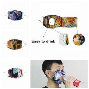 Máscara Facial Máscaras Adulto Dustproof Máscara Designer cara fácil de beber Eat Drink ajustável Beer máscara máscaras tampa reutilizável protecção DHE531