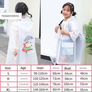 FFxEy Kinderregenmantel nett 'Cloak' Kindergarten mit Schulranzen Mädchen Tasche Körper Mantel Regenmantel lange ganze Jungen Poncho Baby