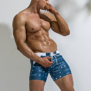 Uomini Stampa Calzoncini da bagno Plus Size Mens Boxer Shorts Nuoto Beach Pants Moda spiaggia Pantaloncini Uomo sportivo Swimwears attivi vestiti nuovi