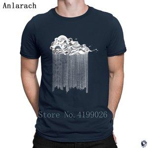 Bulut Beyaz baskı erkekler Kıyafet Tasarımı% 100 Anlarach Tee üst için Klasik donatılmış Unisex yaz T Gömlek tişörtleri