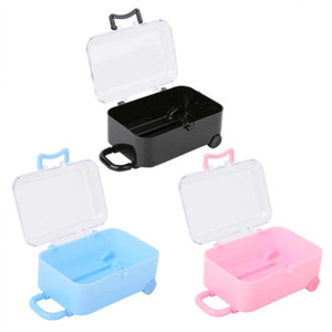 Christmas Party Favors Gift Decor Pillow paper gift box 12PCS Mini Rolling Travel Suitcase Shape Box Wedding Favor
