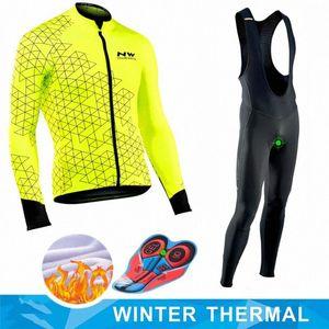 Northwave 2020 Winter термический флис Set Велоспорт Одежда NW мужской костюм Джерси Спорт езда на велосипеде MTB одежды Bib брюки Теплые комплекты 8Z0k #