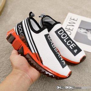 Tamaño de las nuevas mujeres zapatillas en Tejidos Elásticos con zapatos de diseñador del logotipo de lujo CS1595AK2358D909 hombres s Calidad zapatillas de deporte superiores 35-46