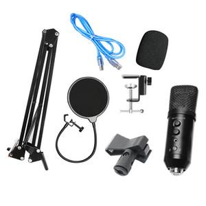 -F400 USB Microphone Set di riduzione del rumore del volume regolabile per Computer Voice Chat Recording / Streaming live broadcast
