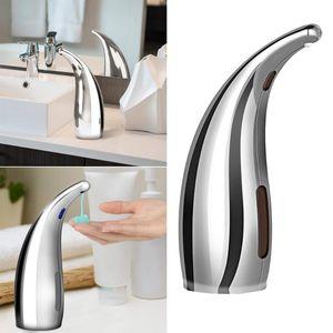 1pcs dispensador de jabón de plástico automática de plata sin contacto recargable dispensador de líquido de la bomba de jabón para baño Cocina A50