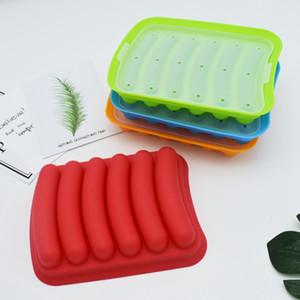 Kreative Wurst machen Mold DIY Silikon-Handmade Burger Hot Dog Schinkenwurst Hersteller wiederverwendbare Form Küchenzubehör VT1703