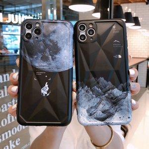 Uzay temperli cam Kılıf iPhone 11 Pro Max Ay Yıldız Baskılı Kapak iPhone 6S 7 8 Plus X XS Max Cases Soğuk