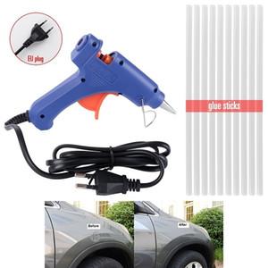Automotive Body Paintless Dent Repair Parts 20W EU Plug Glue Gun 270*7mm Hot Melt Sticks (10pcs, white) Hail Damage Dent DIY Removal Tools