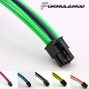 FormulaMod Fm-PCI6P-D, PCI-E 6Pin GPU Power Extension Cable, Motherboard 18AWG 6Pin Multicolor Matching Extension Cable