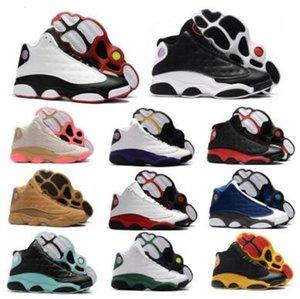 Кремень 13 13s Мужские баскетбольные кроссовки обувь Женщины Jumpman Китайский Новый год Бред Рэй Аллен PE Остров Зеленый Lakeres Он доигрались обувь