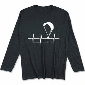 Parapendio Ecg maglietta Primavera Autunno Uomini cotone a maniche lunghe T-shirt divertente Hip Hop Tees Tops Harajuku Streetwear sJGU #