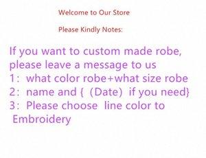 Jrmissli personalizados diseño de la personalidad y batas de baño damas de honor de la boda de la novia de los vestidos de seda ropa de dormir las mujeres Y200425 Cblf #