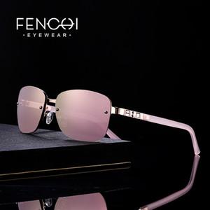 FENCHI Sunglasses Mulheres grife sem aro de luxo retro óculos de sol espelho rosa delírio moda tons lunette soleil femme