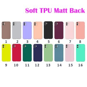 For iphone 11 Pro Max 7 8Plus Case TPU Soft Phone Case for iPhone 11 Pro MAX XS XR 7 8 Plus Matte Touch back cover for iPhone cell phone