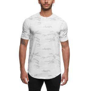 Размер M для 3XL Лето 2020 Muscle Brothers Crew Neck T-Shirt Спорт Фитнес с коротким рукавом Мужская Quick Dry Training Топы Тис
