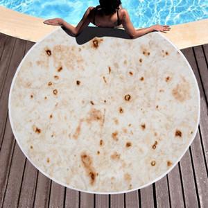 Tortilla Couverture Absorbent Serviette de plage ronde Microfibre Pancake Mat mexicaine rouleau serviette maïs Blanket gâteau pour les enfants ou adultes