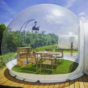 Envío libre Ventilador inflable burbuja carpa transparente burbuja bóveda de la casa personalizada iglú Carpa árbol de la burbuja tienda de campaña precio de fábrica