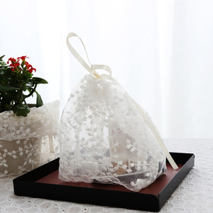 Ins Translucent Lace Drawstring Storage Bag Cosmetic Sundries Drawstring Beam Pocket Small Cloth Bag Candy Box Lace Pack DecorM