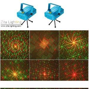 32pcs Lot Zita Lighting Mini lasers 150WM Movendo Verde Vermelho Laser Beam Stage Iluminação Tripé Equipamento Dance Party Disco DJ Blink