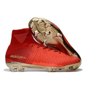 Мужские футбольные ботинки Mercurial Superfly VI 360 Elite Ronaldo FG CR футбольные бутсы Chaussures бутсы высокие лодыжки Футбол Бутсы