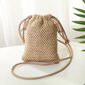 Fashion Women Beach Tote Handbag Ladies Rattan Straw Wicker Crossbody Bag Basket Drop Shipping Good Quality