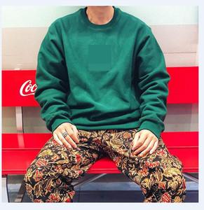 Sweatshirt Männer Street Dance Skateboard Baumwolle Klassische Logo Stickerei Rundhalsausschnitt Plus Samt Mode Hip Hop Pullover Neu Stil