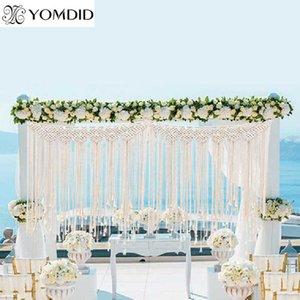 YOMDID DIY BOHO деревенской свадьбы макрам штора стена гобелен трикотажного хлопок большие гобелены нордических свадебные украшения партии