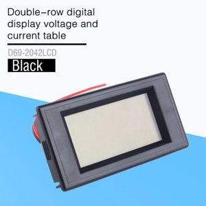 Cgjxsdouble -Row Digital Dispay Voltage And Current Table Of Ac 300v 100a Blue Lcd Dual Panel Volt Amp Combo Meter Ct 110v 220v 240v