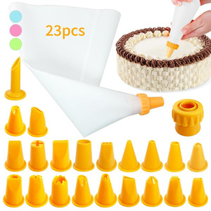 23PCS SET Cakes Piping Bag Decorating Piping Tools Cakes Molds Kitchen Dessert Baking Supplies