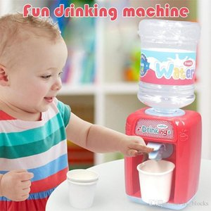 Children Mini Water Dispenser Toy Electric Sound Light Simulation Kitchen Educational Playhouse Game Kids Toys Water Fountain Girl Gift