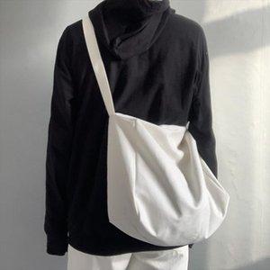 Fashion Women Canvas Bags Simple Messenger Bags Shoulder Bags 2020 New Arrival Female Casual Soft Zipper Canvas Handbags