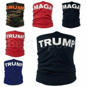 Trump Máscara Facial Máscara MAGA Protective Ciclismo Magia Cachecol Bandana Bandana Turban 25 * 42 centímetros Máscaras Trump CYZ2720 100pcs