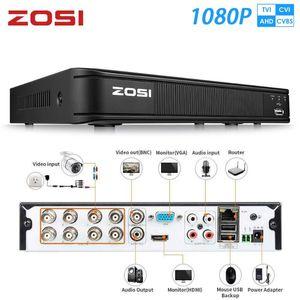 KITS ZOSI 1080P 8 Kanal TVI DVR 8CH AHD CVI CVBS 1920 * 1080 2MP CCTV Video Recorder Hybrid Videcam Sicherheitssystem