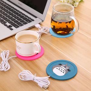 USB Warmer Cartoon Silicone Thin Coaster Coffee Tea Beverage Usb Insulation Pad Tray Coaster Exquisite Gift