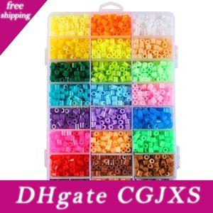 1000pcs 5mm 48 Colors Eva Hama Perler Beads Toy Kids Fun Craft Diy Handmaking Fuse Bead Creative Intelligence Educational Toys C6313
