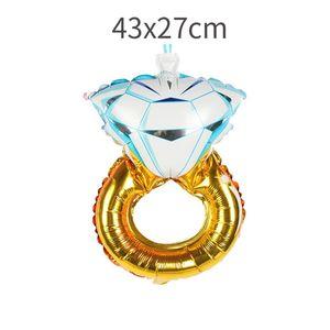 Для вечеринок Воздушные шары День рождения шар Фольга Airballoon Алмазные кольца украшения партии Wedding Proposal Атмосфера в помещении на улице 1 8lq7 F2
