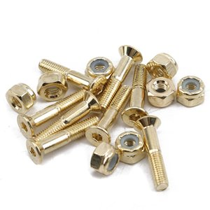 스케이트 보드 하드웨어 나사 8PCS / 설정 금속 네일 볼트 나사 키트 세트 검정 및 골드 스케이트 보드 교체 기기 · 광학 기기