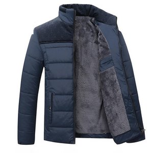 Men's Down & Parkas Arrival Fashion Coat Warm Padded Thickened Casual Zipper Winter Jackets Men Plus Velvet Size M L XL 2XL 3XL 4XL