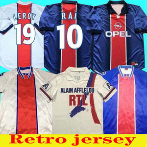 93 94 95 96 Paris Retro Futebol Genedores Okocha Leroy Adailton 1998 1999 2000 90 92 Paris Paris Classic Rai CamiSas de Futebol