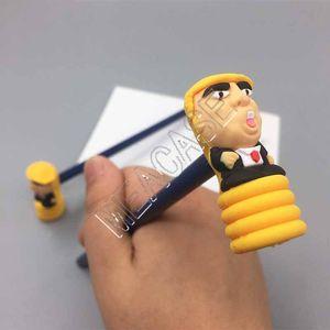 Président Donald Trump Toy Parler Marteau Crayon avec PVC Marteau 2PCS scénographes Nouveauté bureau Affichage porte-crayons Noise Maker D81707