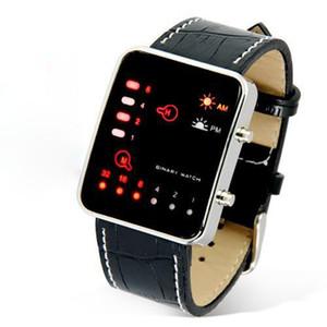 Digital Watch Men Red Casual LED Sport Wrist Watch Binary PU Leather Clock Women Men Wristwatch Reloj Hombre Relogio Masculino
