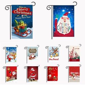 Bandeiras Jardim de Natal 30 * 45 centímetros Hanging Outdoor Garden Banner Festa de Natal da bandeira Feliz Ano Novo Detalhes no transporte marítimo de DDA488