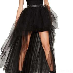 fD3TD UQGPR Summer nueva malla grande Mop falda de cola de milano Tuxedo oscilación de cola de milano falda de gran tamaño atractivo mop negro largo smoking