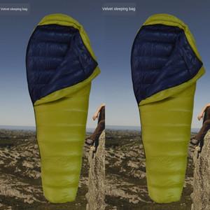 Extérieur ultra léger adulte Four Seasons chaud alpinisme canard Voyage camping sac de couchage sac de couchage B1vnu