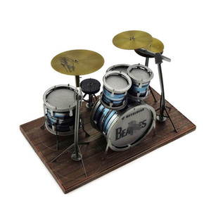 Mini Finger Touch Drum Set LED Light Game Drums Percussion Educational Musical Instruments Gifts 3D DIY jigsaw model
